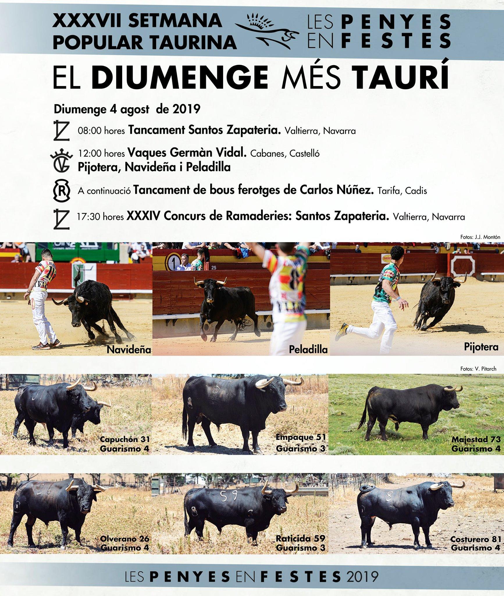 EL DIUMENGE MÉS TAURÍ.